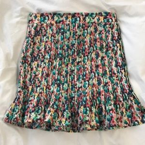Colorful Flared Skirt